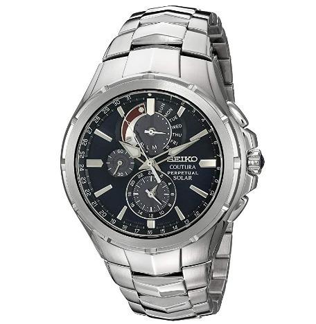 5a91fe30358 Relógio Seiko Masculino Solar Coutura Preto aço Cal Perpétuo - R ...