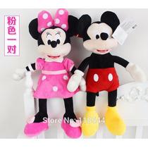 Boneco Pelucia Minnie & Mickey Mouse Médio 45cm Antialergico