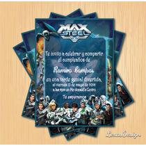 Kit Imprimible Max Steel Personalizado Pdf