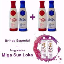 Escova Progressiva Portier Fine ( 4 X 1 Litro ) + Brinde