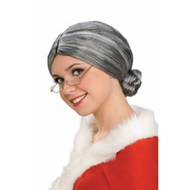 Peluca Ancianita, Señora Santa Claus, Unitalla. Envio Gratis