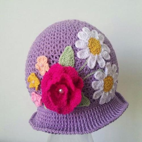 Gorros Tejidos A Crochet Para Bebes Niñas Y Niños - Bs. 25.000 11b70ba0078