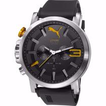 Puma Ultrasize Crono 50mm Diametro Reloj Amarillo Diego Vez