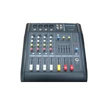 Consola Amplificada 4 Canales Entrada 3 Salida Usb Dvd 2000w