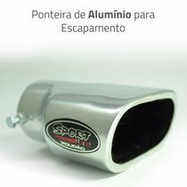 Ponteira Esportiva Cromada Polidão Tuning Em Aluminio