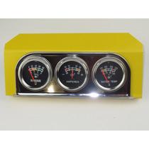 Relógio Painel Adaptação Óleo Amperes Temperatura Agua