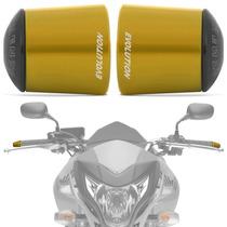 Peso Guidao Moto Universal Longo Racing Dourado Evolution