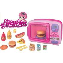 Microondas Infantil Da Princesa Luz Som Alimentos Braskit