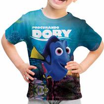 Camiseta Infantil Filme Procurando Dory Animação Md01