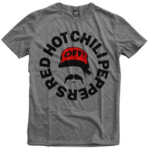 Camiseta Swag Mescla Cinza Red Hot Chili Peppers Anthony