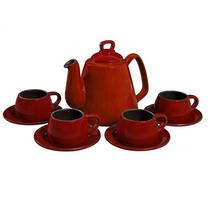 Conjunto Para Café 9 Peças De Cerâmica Pomodoro - Ceraflame