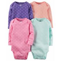 Carters Pañaleros Lote 5 Bodysuits Ropa Americana Niña Bebe