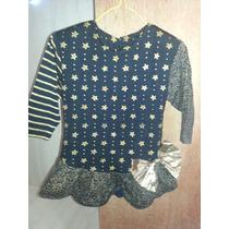Blusa Franela Camisa Niña Talla 12