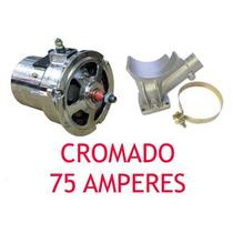 Alternador Fusca Brasilia Kombi 75 Amperes Cromado