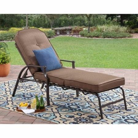Camastro reclinable cafe con cojin para jardin lounge for Camastros de hierro para jardin