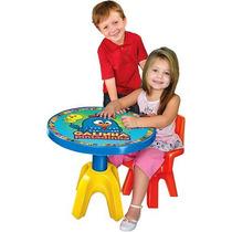 Mesa + Cadeira Infantil Galinha Pintadinha Original Lider