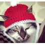 Touca De Papai Noel Em Croche Para Caes E Gatos