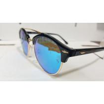 Óculos De Sol Ray Ban Rb4346- Club Master Redondo Lançamento