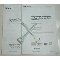 Manual Estereo Sony Cdx Gt207x