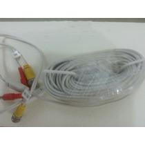 Cable Bnc Secutech Para Camaras, Con Conector Y Plug, Blanco