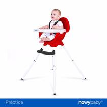 Silla Extensible Nowy Baby Comida Bebes Niños Practica Roja