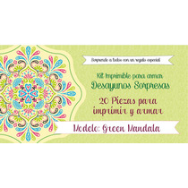 Green Mandala: Kit Imprimible Para Armar Desayunos Sorpresa