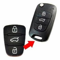 Capa Borracha Chave Hyundai I30, Ix35, Azera Kia Cerato Soul