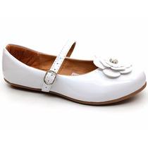 Sapato Boneca Infantil Bea Kid 07247 Verniz Branco Pixolé