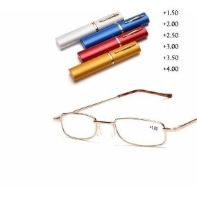 5f8483af2c6ef Óculos Com Estojo Fino De Bolso Estilo Caneta Prático - R  21,25 em ...