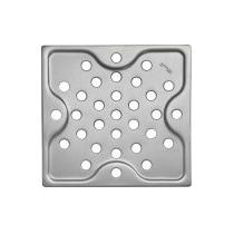 Top Ralo Quadrado Pequeno Aço Inox Prata 10cm Tramontina