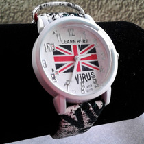 Reloj De Pulsera Londres Bandera Britanica Uk London