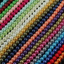 Perlas Base Cristal En Tira 4, 6 Y 8mm, Hermosos Colores
