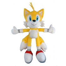 Pelúcia Tails Turma Do Sonic Grande 35cm Amarelo Boneco Game