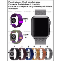 Pulseira Milanese Loop Preta Relógio Apple Watch - 42mm New