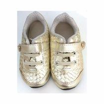 Tênis Dourado Feminino Infantil Meli - 010562