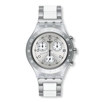 Relogio Feminino Swatch Svck4075ag Full Blooded Prata Origin