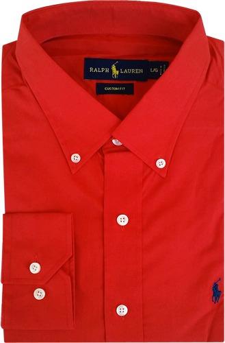 083d3bae2e8d0 Camisa Social Polo Ralph Lauren Masculina Vermelha - R  199