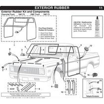 Hules Para Puertas Chevrolet Pick Up 69 - 72 Originales