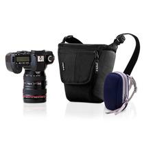 Bolsa Alhva 3 P/ Máquina Fotográfica Canon 5d 7d E Estojinho