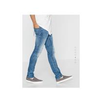 Pantalón Jeans De Caballero Pull And Bear Roto