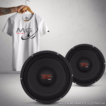 Par Woofer Shutt 10 Polegadas 300w Rms 4 Ohms + Camiseta