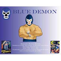 Poster Lucha Libre Blue Demon Deportes Mexico 50 X 64 Cm
