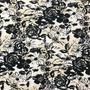 Flores Beige-Negro (Polilycra)