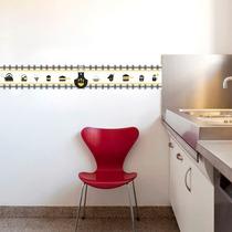 Faixa Decorativa - Cozinha Amarelo E Preto