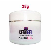 Keragel Gel Rosa Pink 28g - Uv / Led - C/ Keratina Cálcio