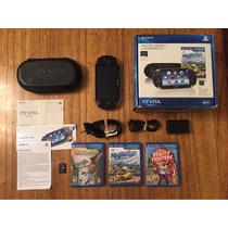 Playstation Ps Vita - Impecable Complet 4 Juegos - Permuto