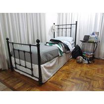 Cama De Hierro 1 Y 1 1/2 Plaza; Modelo Neron