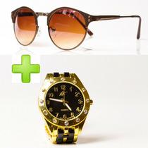 Oculos De Sol Feminino Moda Verao Pague 1 Leve 2