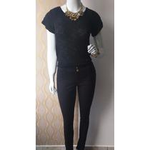 Calça Jeans Feminina Plus Size Cintura Media Com Lycra