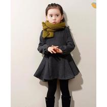 Vestido Infantil Otoño/invierno Forro Interior Polar Gris